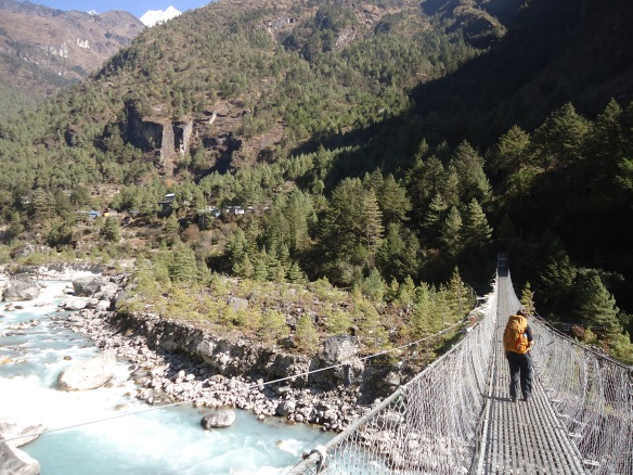 Bridge across Dudh Kosi