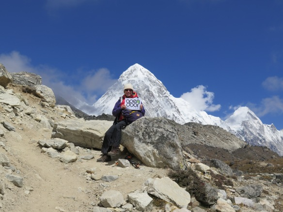 EBC Trek in front of Pumori