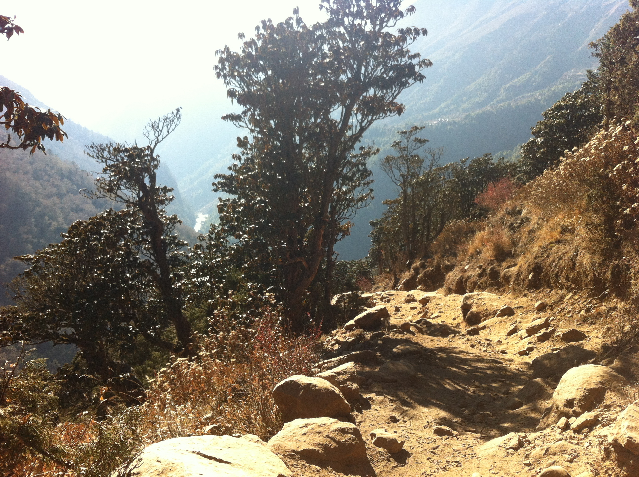 Everest Base Camp trek the trail