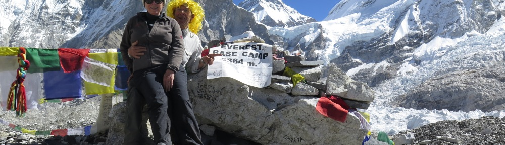 Sam and Louise at Everest Base Camp