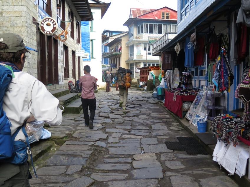 Main Street Lukla, setting out on Main Trail EBC Trek