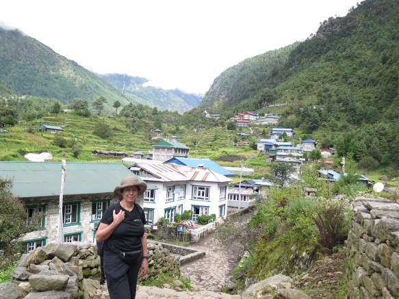 Ghat on the Main Trail Lukla to Kala Patthar and Everest Base Camp