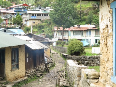 Village day two of the main trail to Everest Base Camp