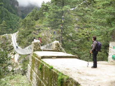 Bridge to Namche Bazaar main trail to Everest Base Camp