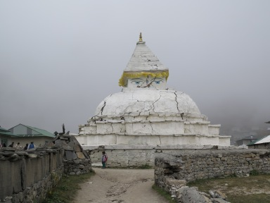 Stupa at Khumjung in the Khumbu region of Nepal