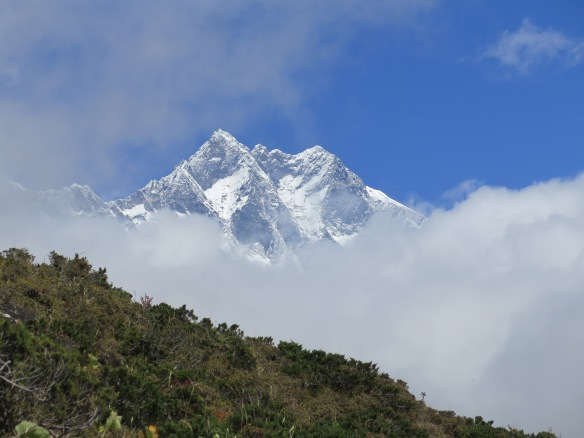 Lhotse from the trail to Pangboche