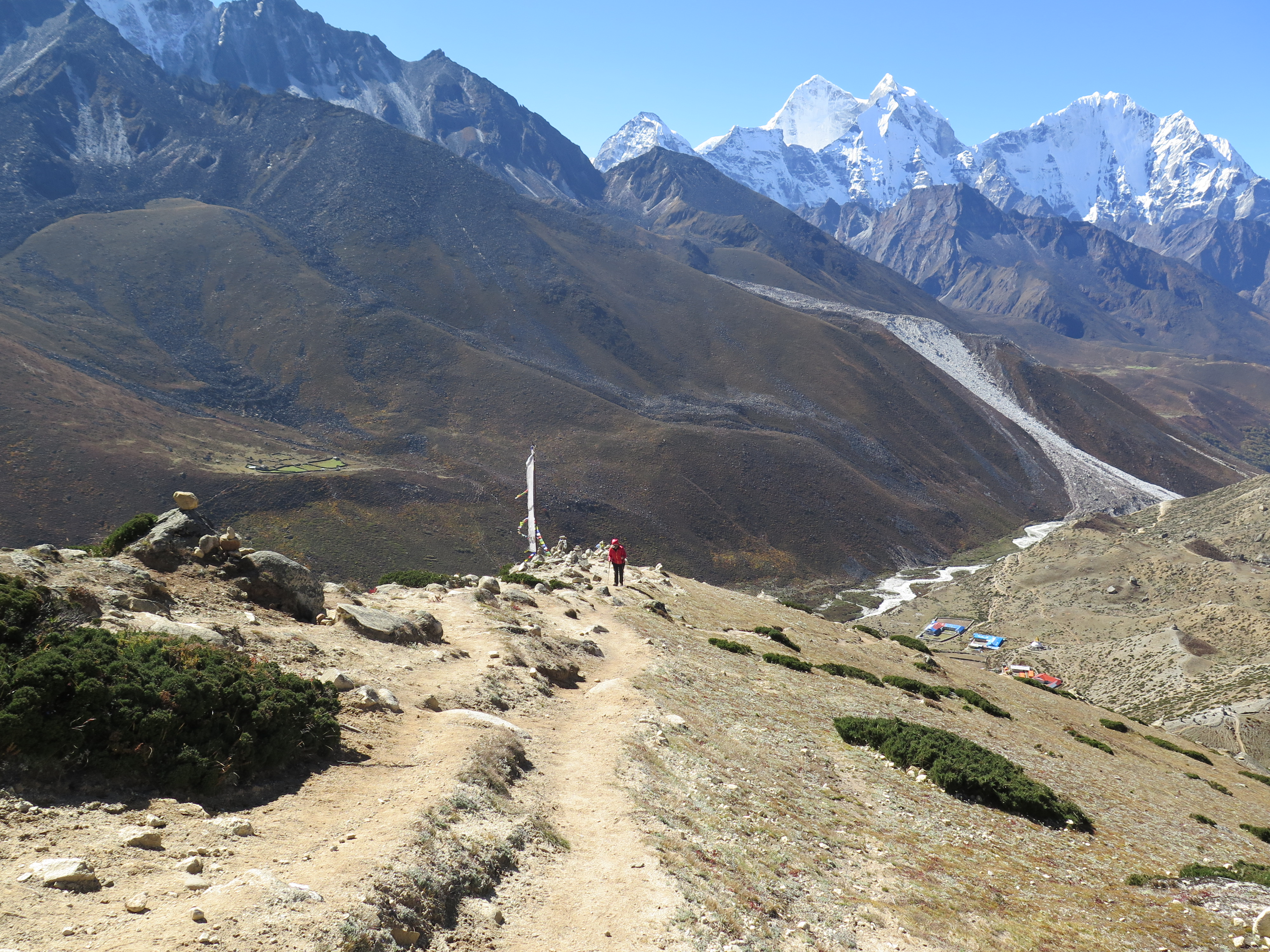 Climbing Dingboche Ridgetop