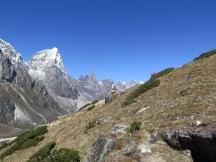 On Dingboche Ridge Top at 4,700metres