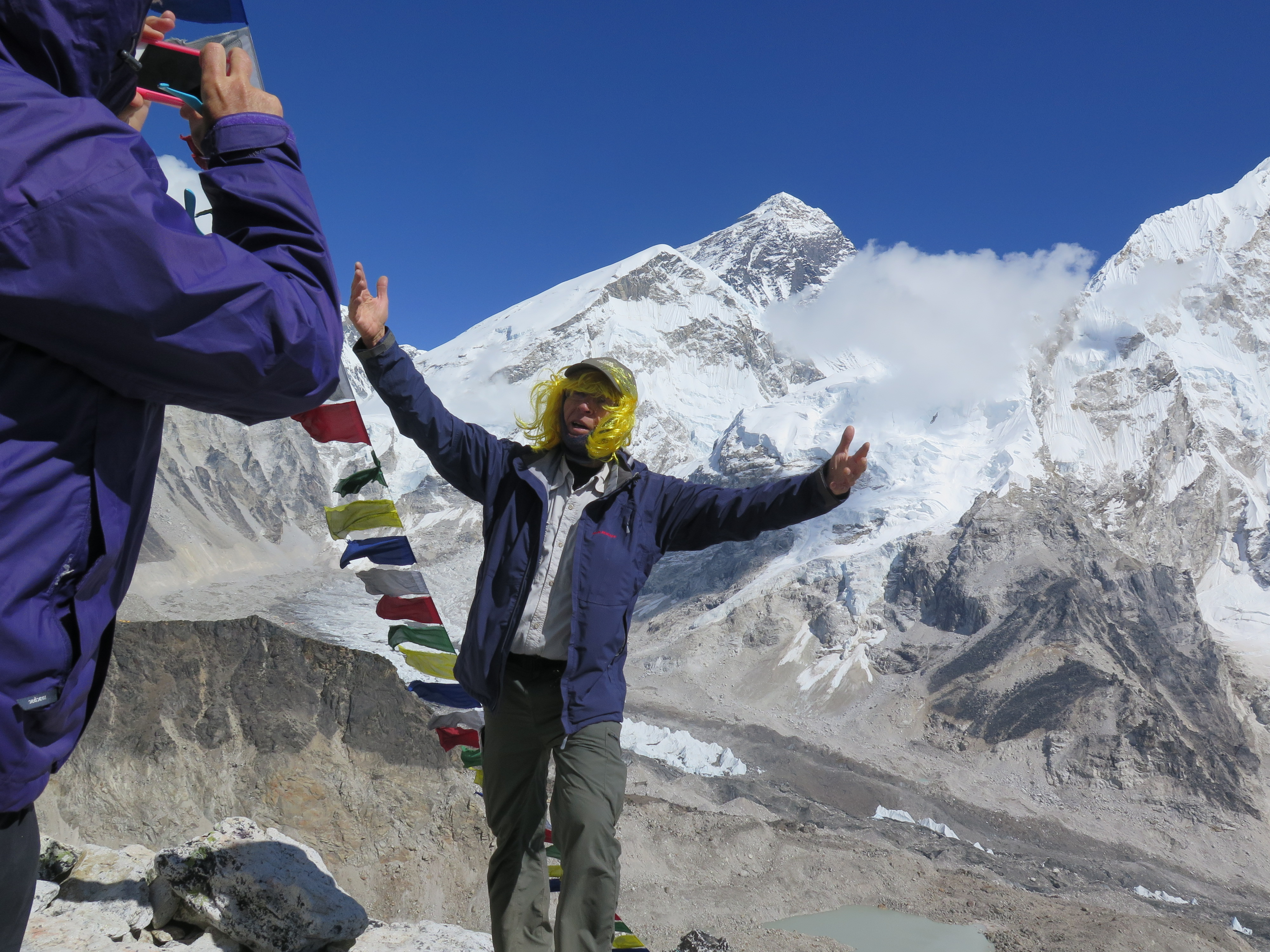 On Kala Patthar with Mount Everest in the Background