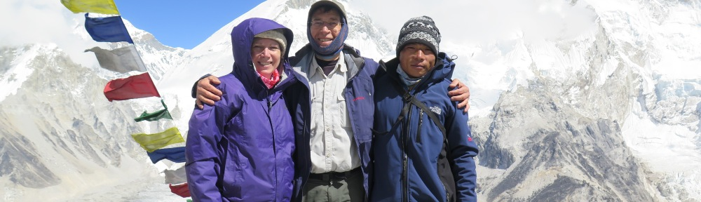 Triumphant Trekkers Above Everest Base Camp on Kala Patthar