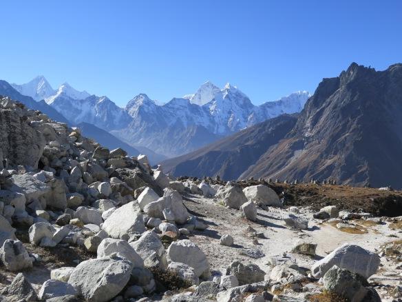 Cairn Memorials at Chupki Lhara on Everest Base Camp Trek