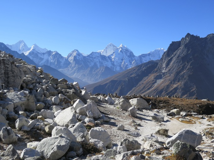 Cairn Memorials at Chupki Lhara on Everest Base Camp Trek
