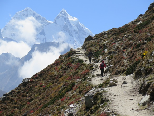Heading back on the Everest Base Camp Trek