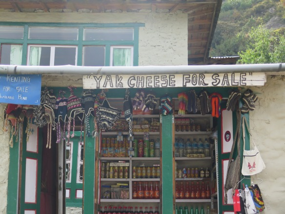 Shop front Everest Base Camp Trail