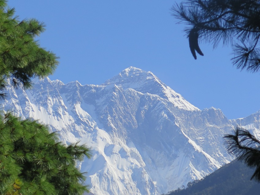 First and last view of Everest