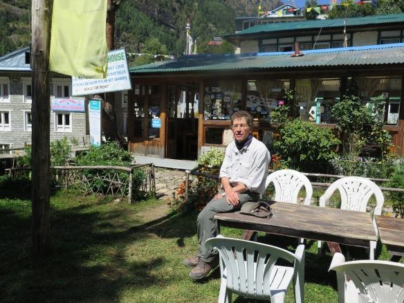 Garden at Monjo Lodge Everest BAse Camp trek
