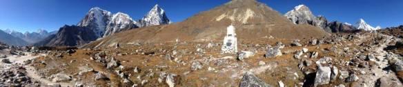 Memorials above Dughla