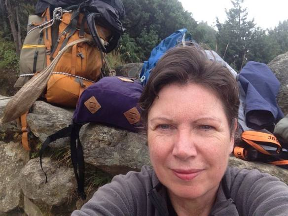 Louise Terranova resting on the Everest Base Camp trek 2015