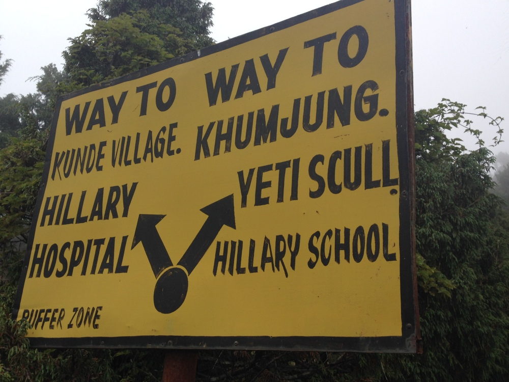 Signage in the Khumbu