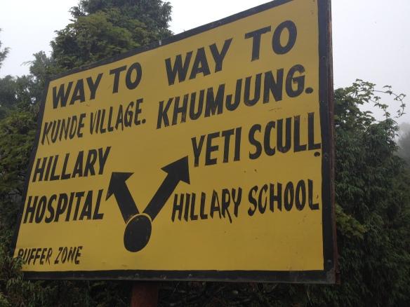 Signage in the Khumbu