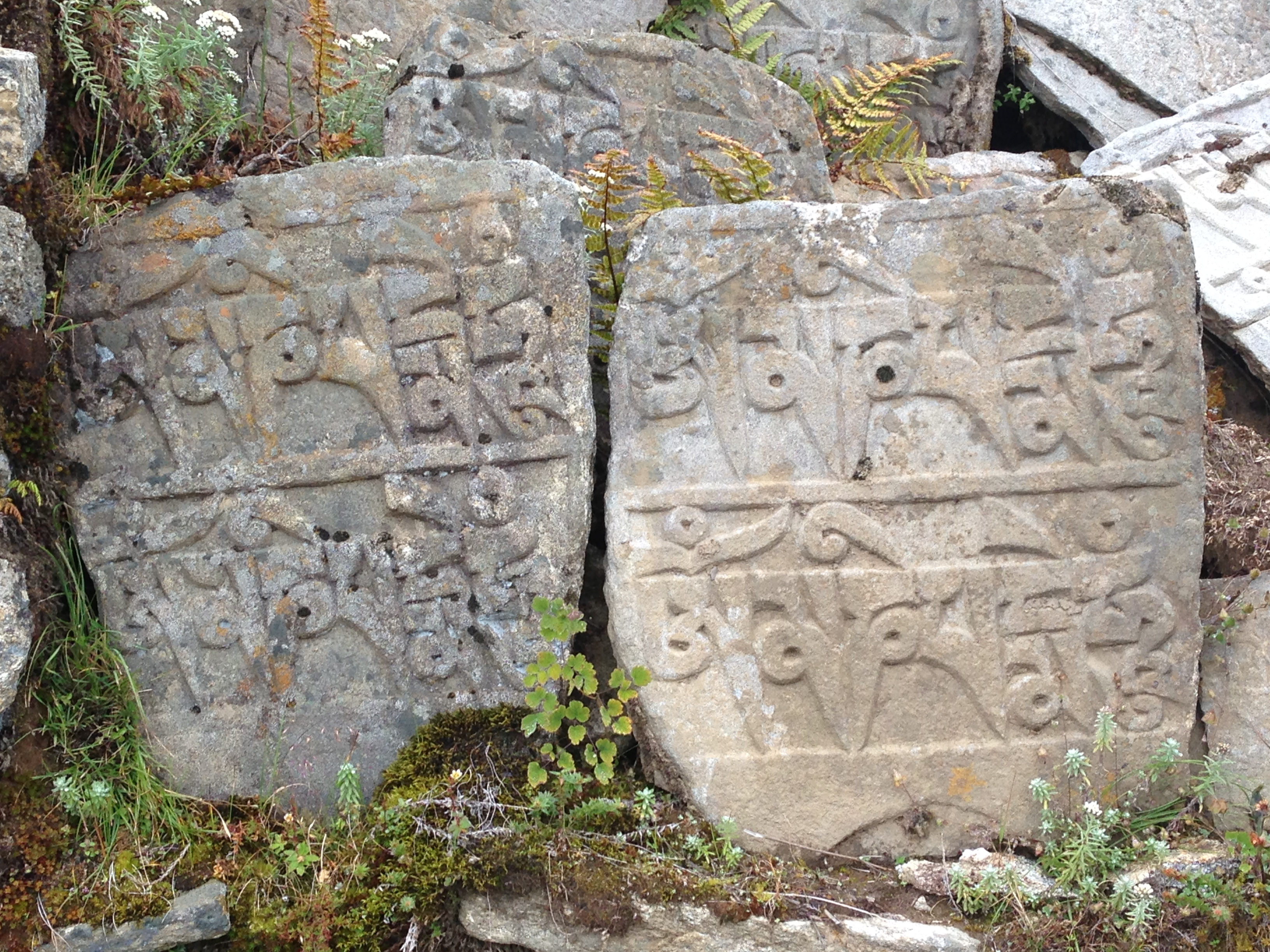 Mani Stones on The EBC Trail