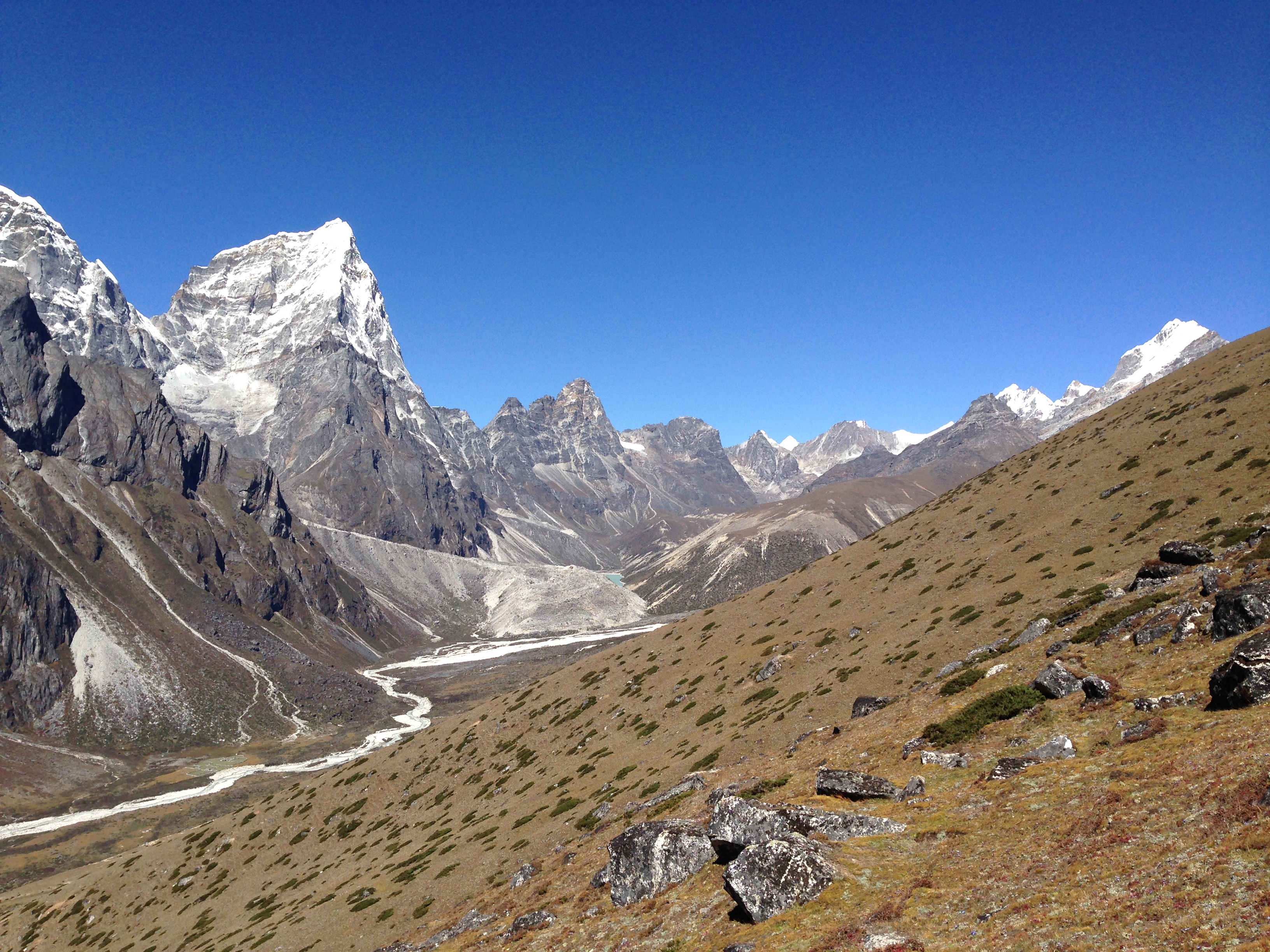 Above Dingboche Everest Base Camp trek