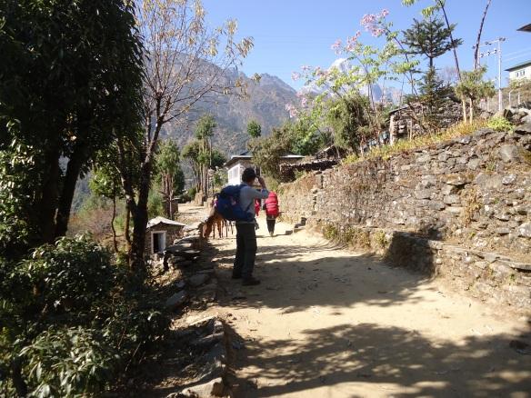Walking to Phakding