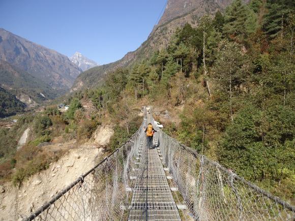 First bridge on the trail to EBC