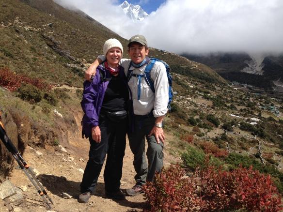 Above Pangboche Everest Base Camp trek