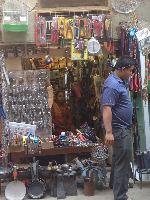 Kathmandu Shop selling locks