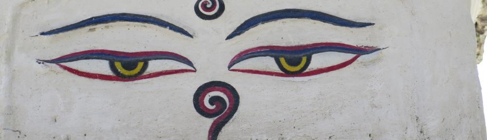Eyes on Temple Stupa Kathmandu