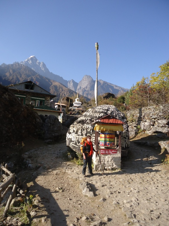 Prayer wheel at Ghat Everest Base Camp trek