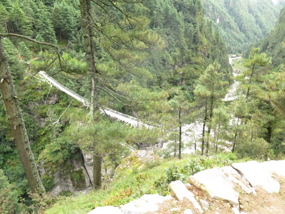 Lower bridge to Namche Bazaar