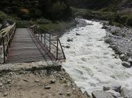 Bridge across the Khumbu Khola and the Imja Khola