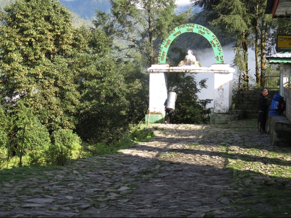 Pasang Lhamu Memorial Gate outside of Lukla