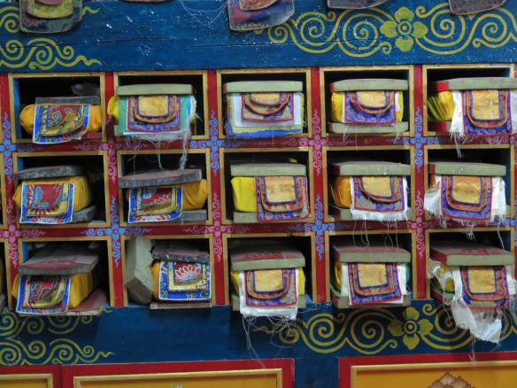 Boxes of ancient papers Khumjung Manastery Nepal