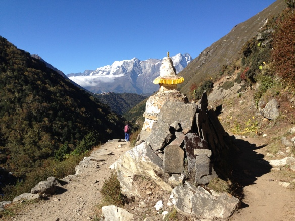 Leaving Tengboche