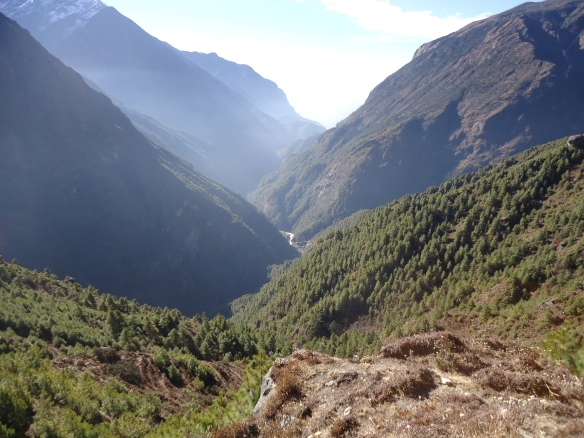 Day 4 Above Namche Bazaar heading towards Tengboche