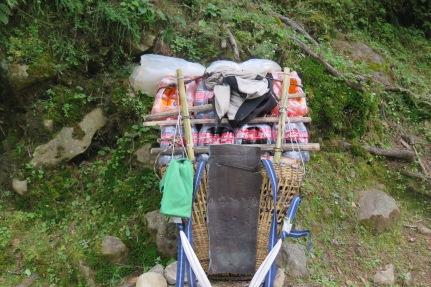 Porters Load along the EBC Trek trail