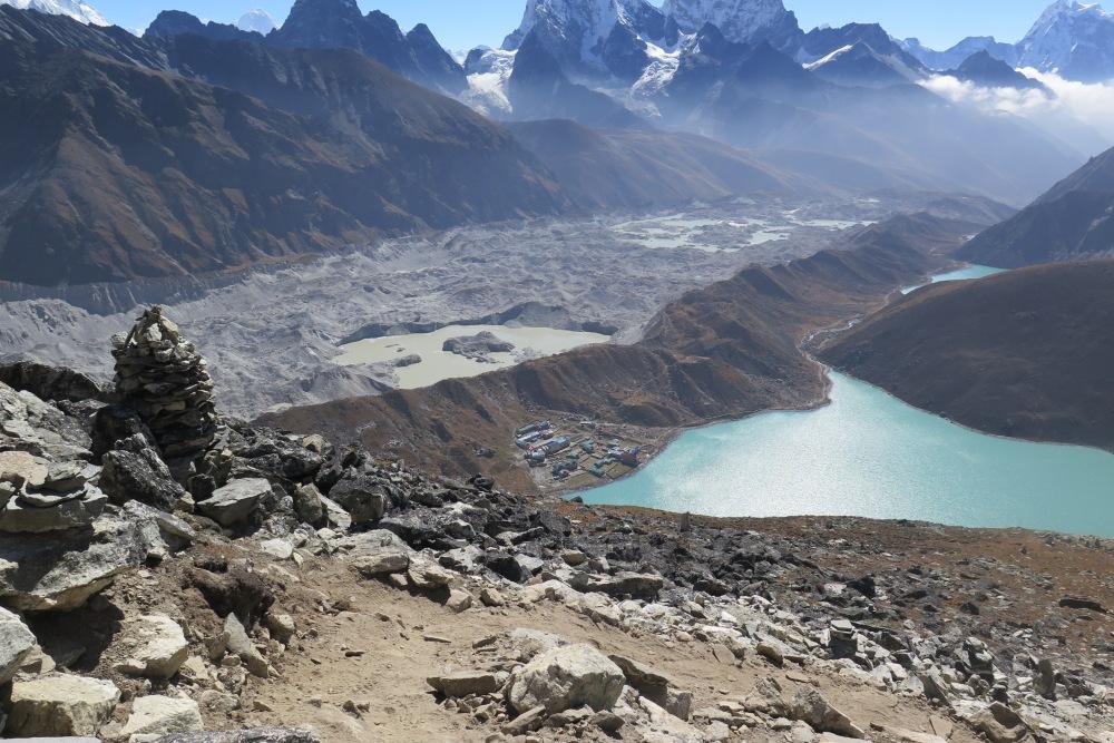 Lake Goyko and Ngozumba Glacier Everest region Nepal