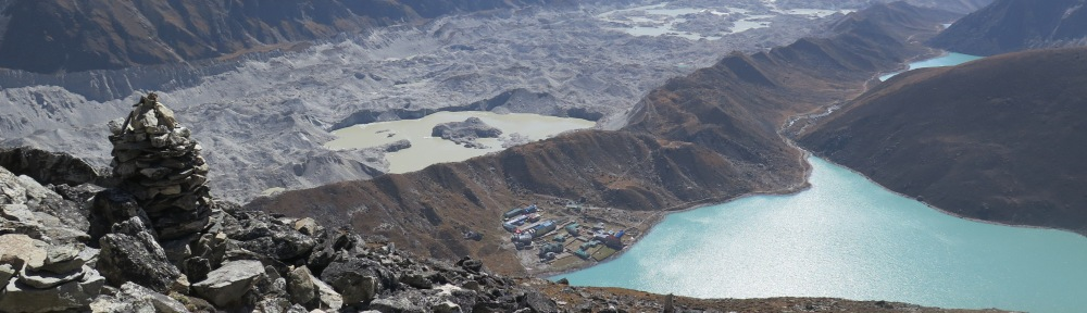 Lake Goyko and Ngozumba Glacier Everest region Nepal