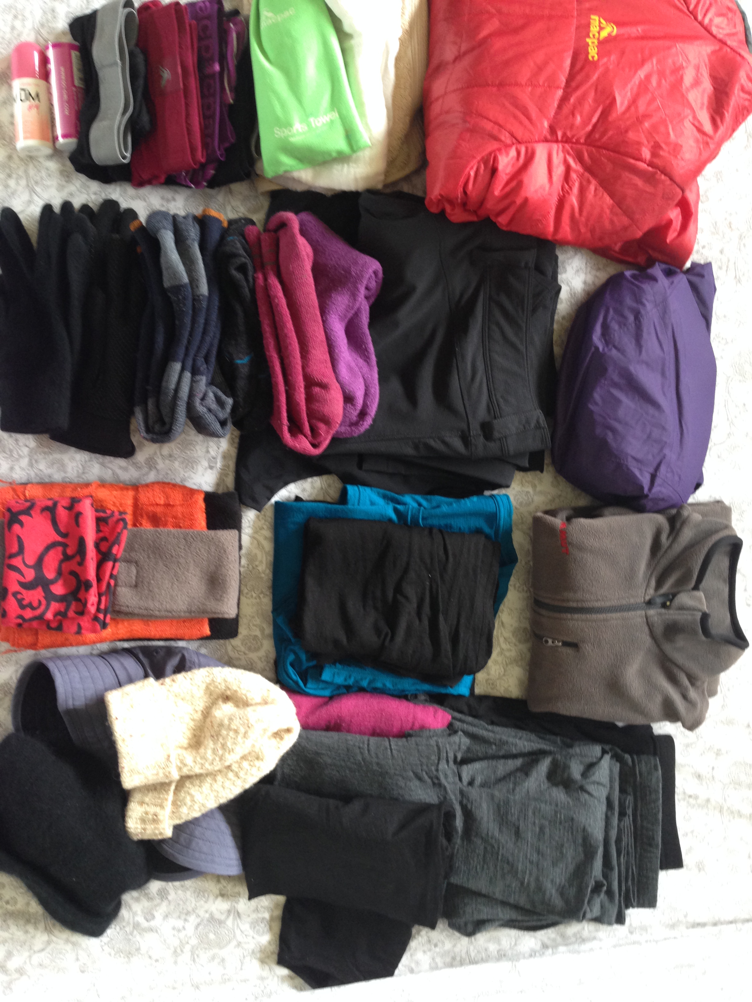 Trekking gear for Nepal