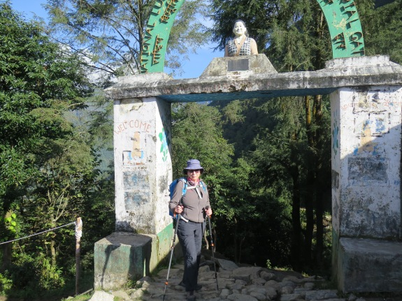 Pasaing Lhamu Memorial outside of Lukla Nepal