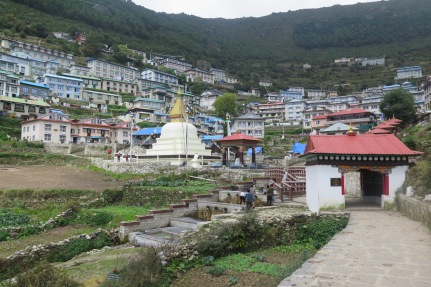 Lower part and gate to Namche Bazaar