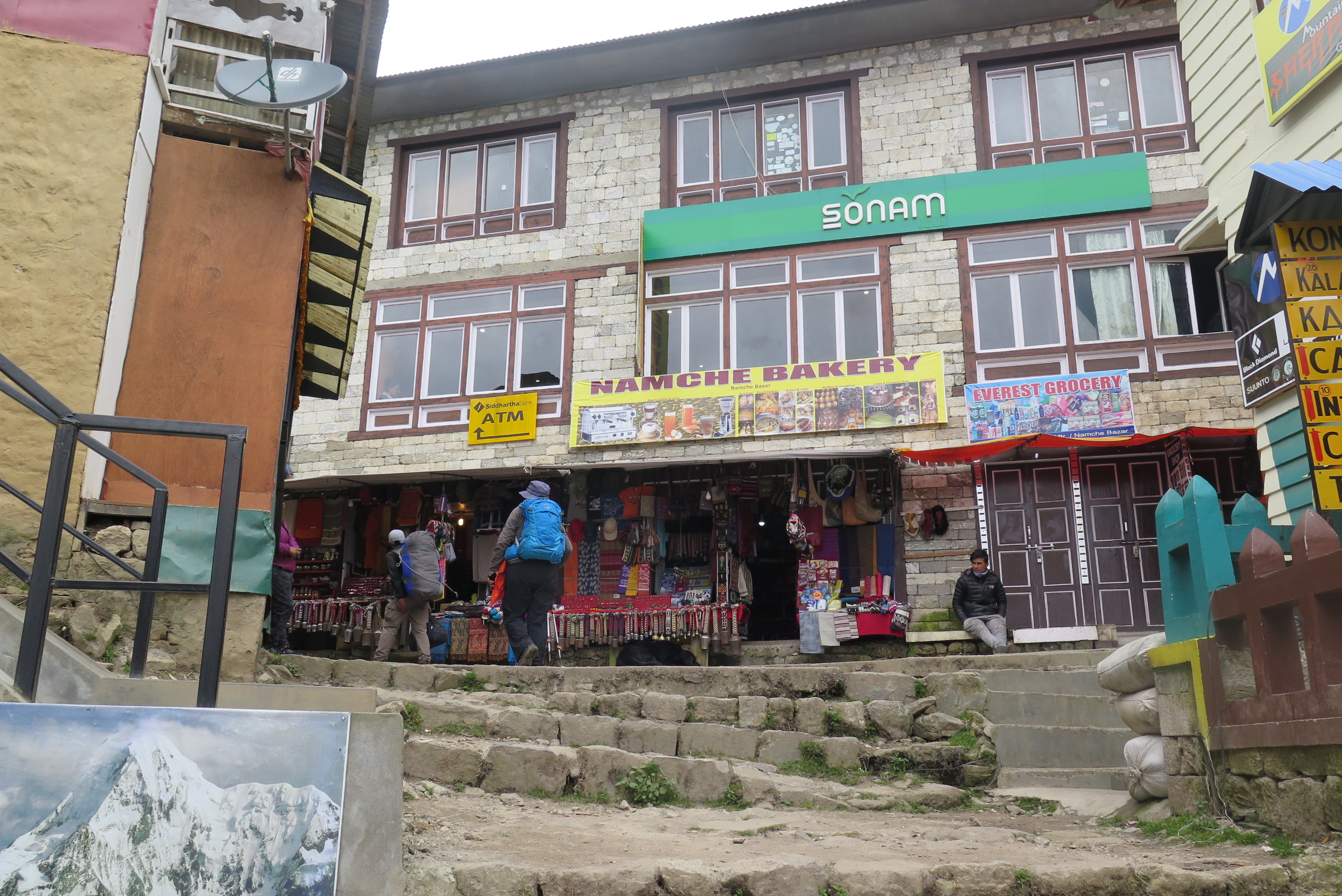 Shops in Namche Bazaar