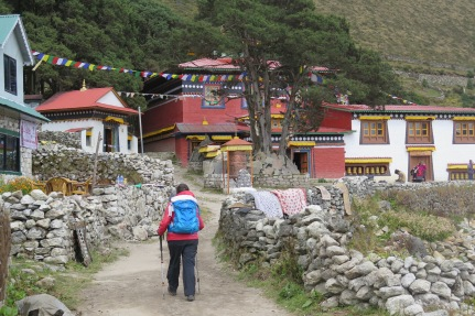 Trekking through Khumjung to the Monastery