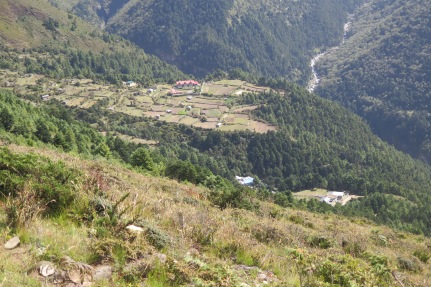 View from trail from Khumjung to Mongla september 2018