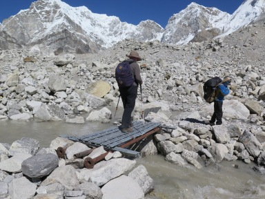 Small Metal bridge on EBC trek