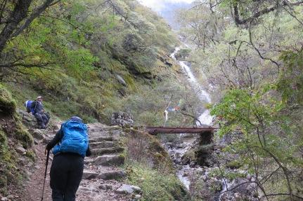 Track between Phortse Tenga and Dole